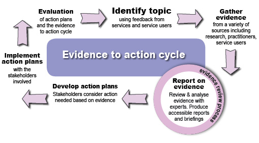 evidence to action cycle chart